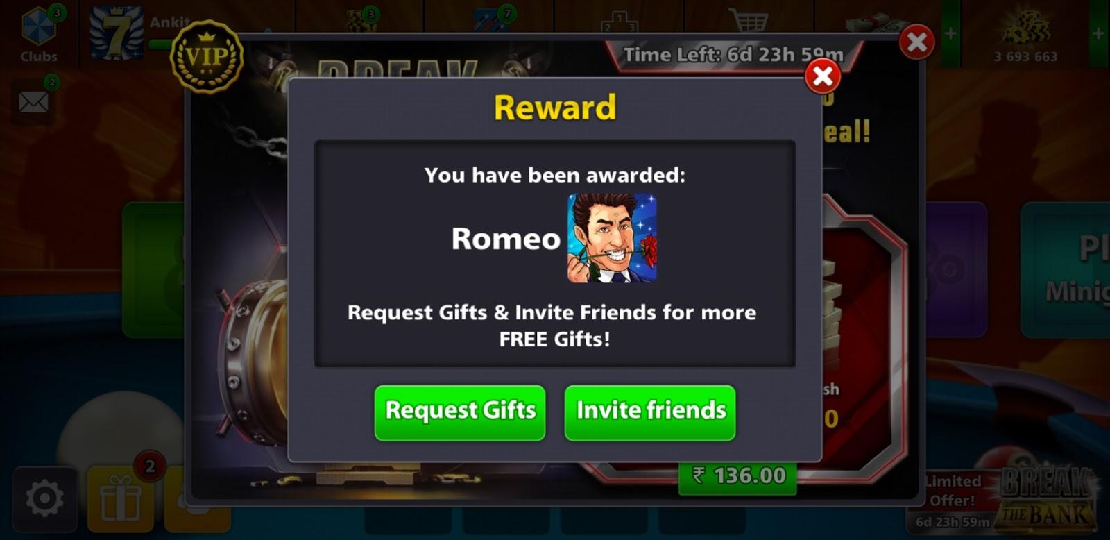 8Ball Pool New Reward Links