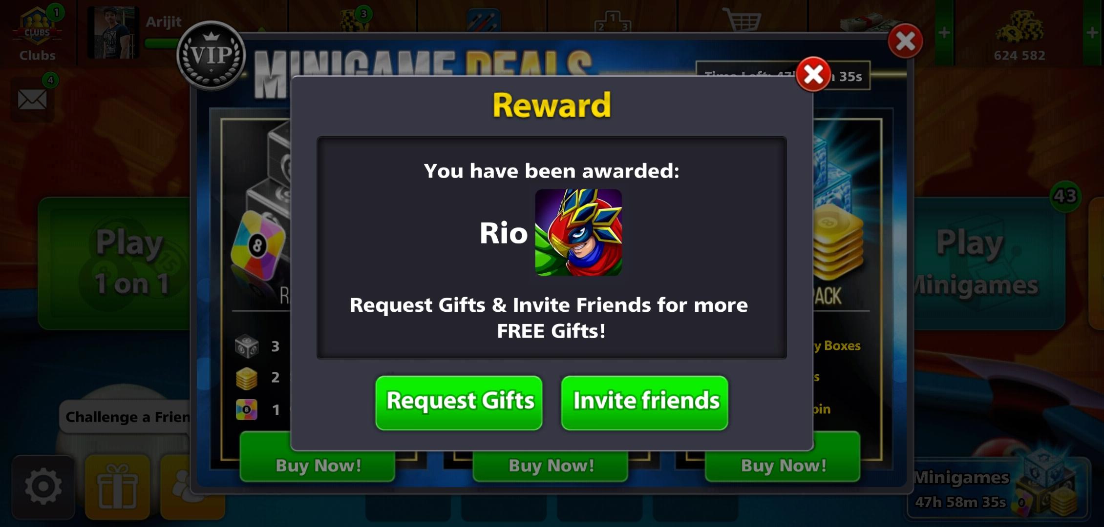 8Ball Pool Free Rio Avatar Link