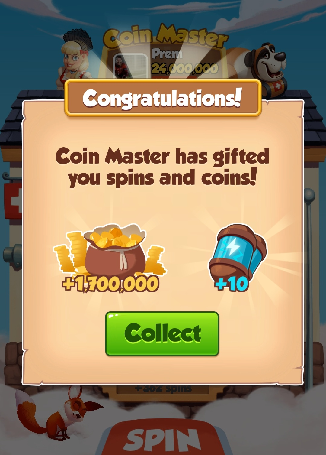 Daily free spin link for coin master game